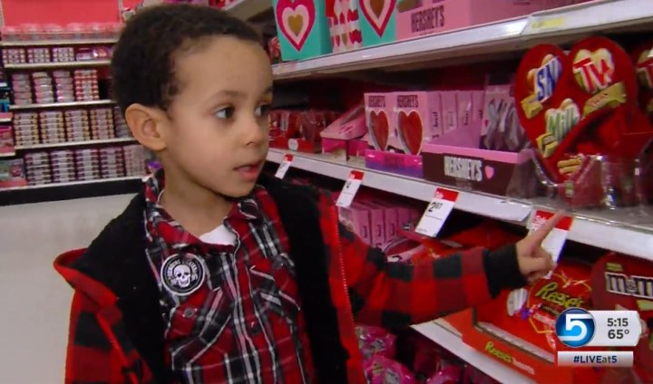 Shopping for Food Allergies for Valentine's in Target