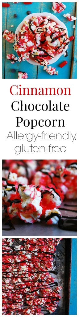 Allergy-friendly Cinnamon Chocolate Popcorn Dessert Recipe by AllergyAwesomeness.com