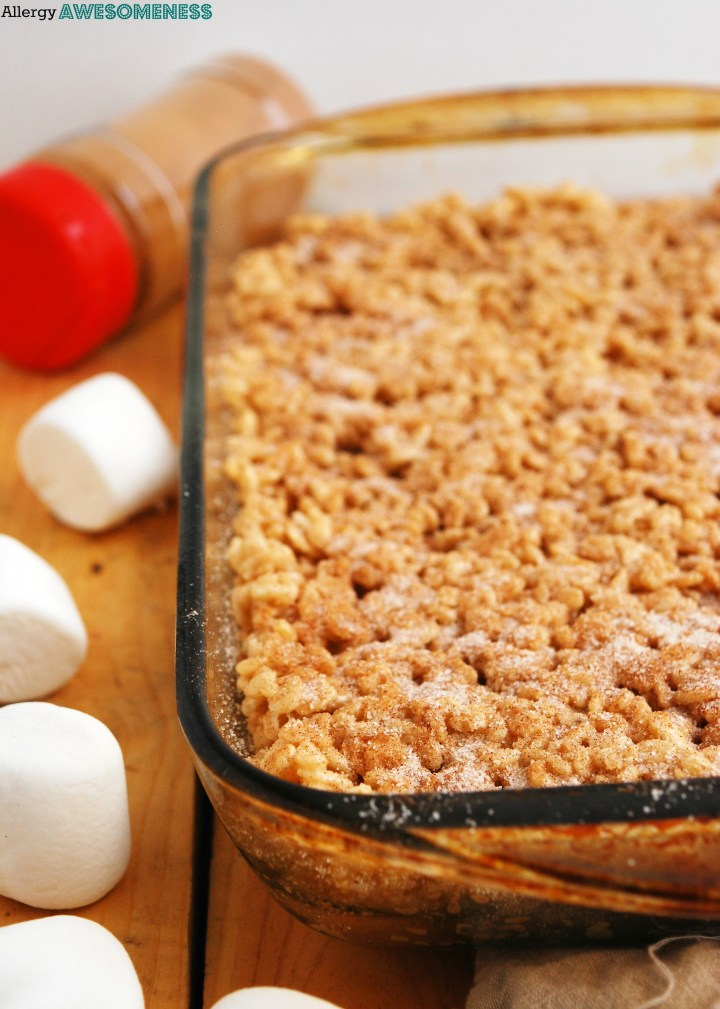Snickerdoodle Rice Krispie Treats Recipe by Allergy Awesomeness