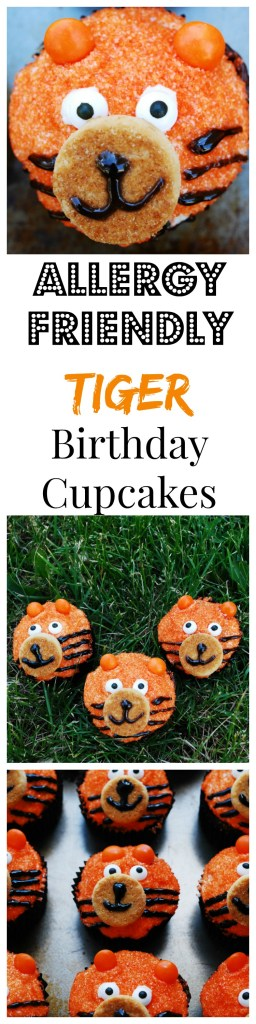 Allergy-friendly Tiger Birthday Cupcakes by AllergyAwesomeness