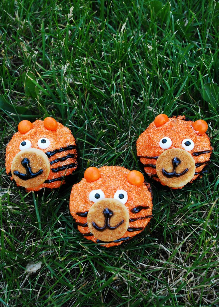 Allergy-friendly Tiger Birthday Cupcakes by Allergy Awesomeness