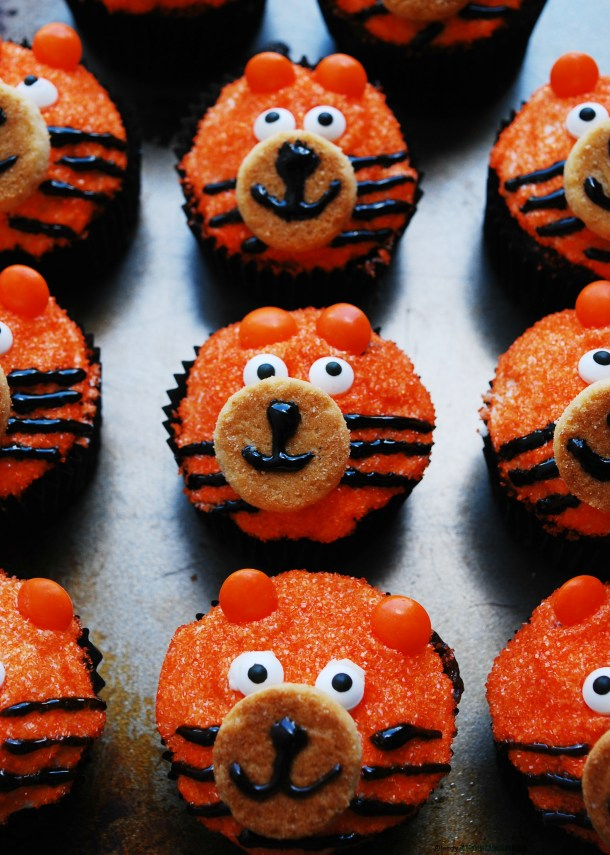 Gluten-free Tiger Birthday Cupcakes by Allergy Awesomeness