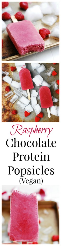 Raspberry Chocolate Protein Popsicles by AllergyAwesomeness