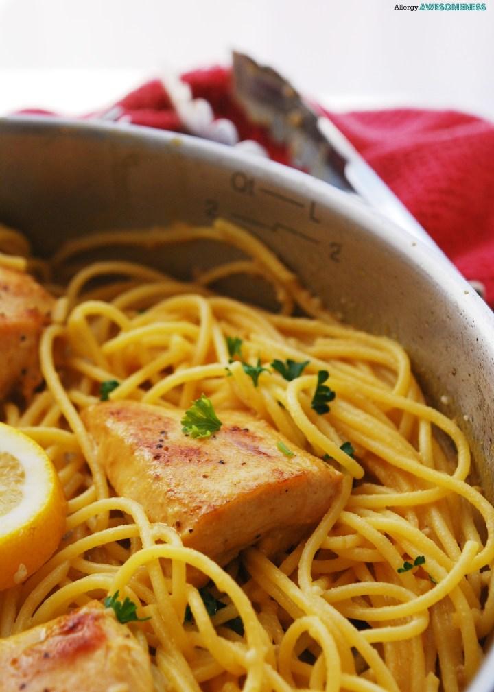 Gluten-free creamy lemon chicken pasta