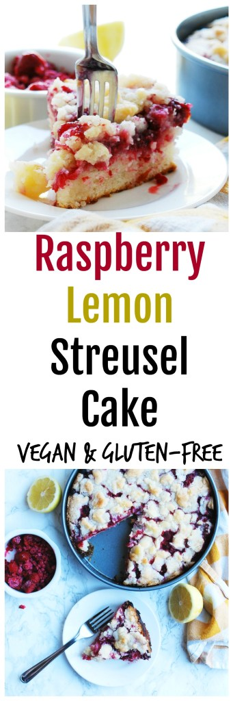 Gluten-free Vegan Raspberry Lemon Streusel Cake Recipe by AllergyAwesomeness
