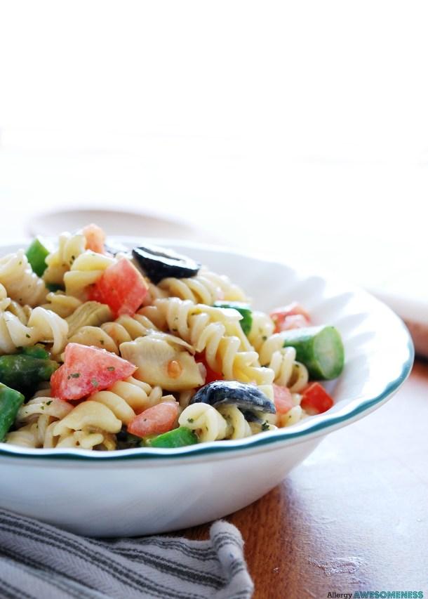 Vegan Tuscan Pasta Salad