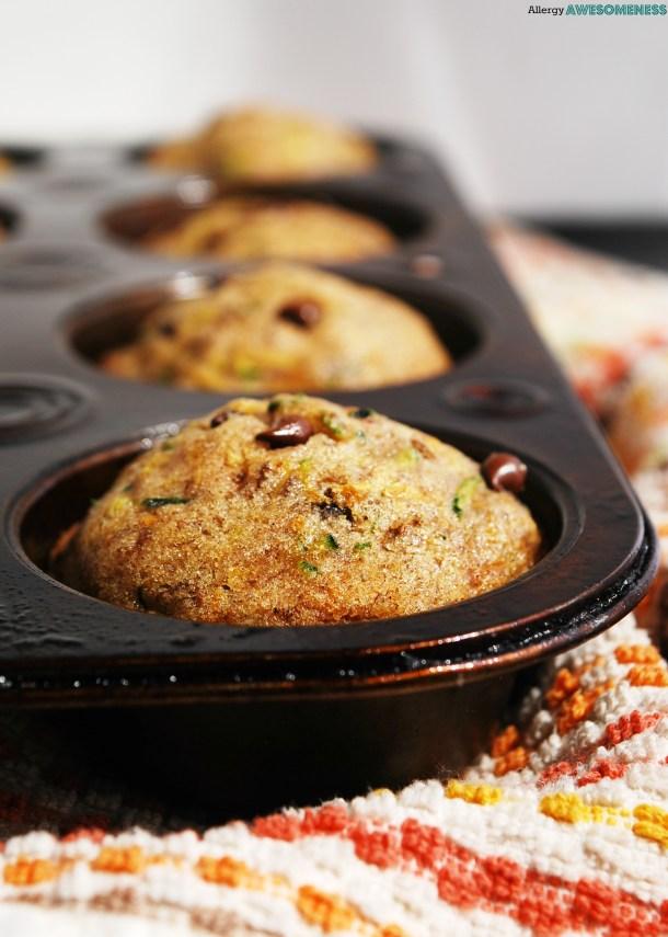 Gluten-free Chocolate Chip Zucchini Muffins
