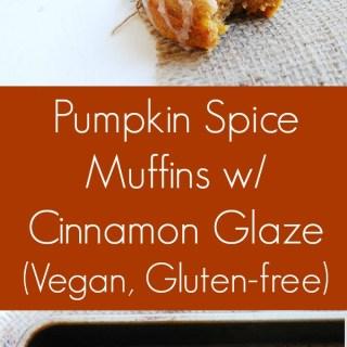 Vegan and Gluten-free Pumpkin Spice Muffins Recipe