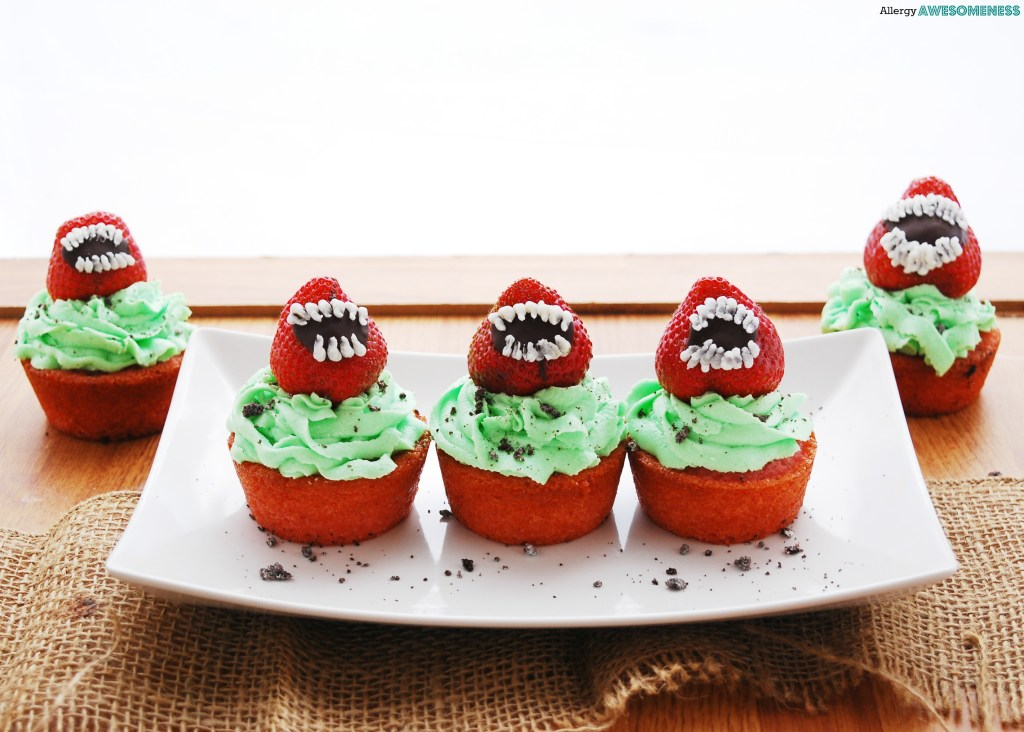 Man-eating cupcakes for Halloween