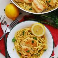 Dairy & Gluten-free Creamy Lemon Chicken Pasta