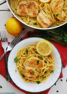 Dairy and Gluten-free Creamy Lemon Chicken Pasta Recipe