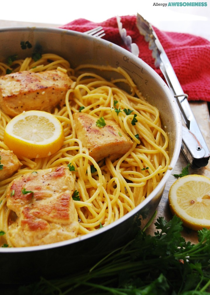 Allergy-friendly Creamy Lemon Chicken Pasta