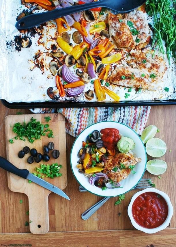 Gluten-free sheet pan dinner