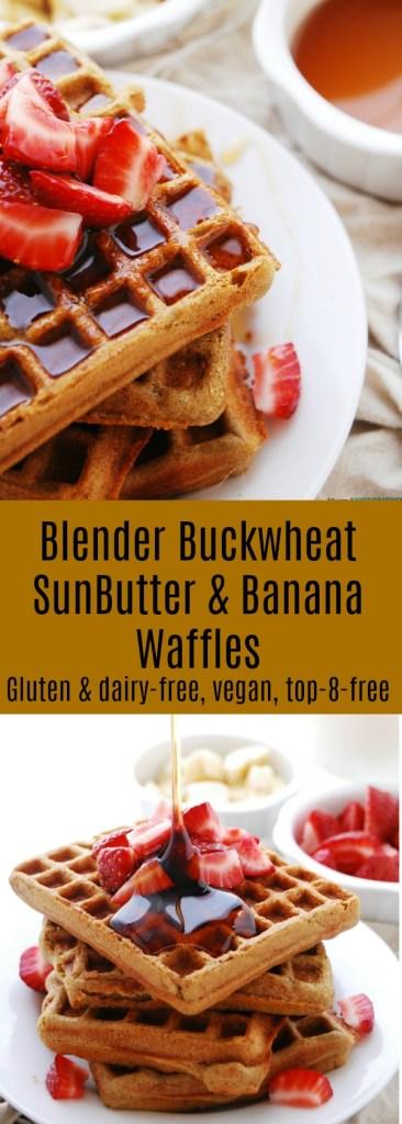 Blender Buckwheat SunButter & Banana Waffles Recipe by AllergyAwesomeness