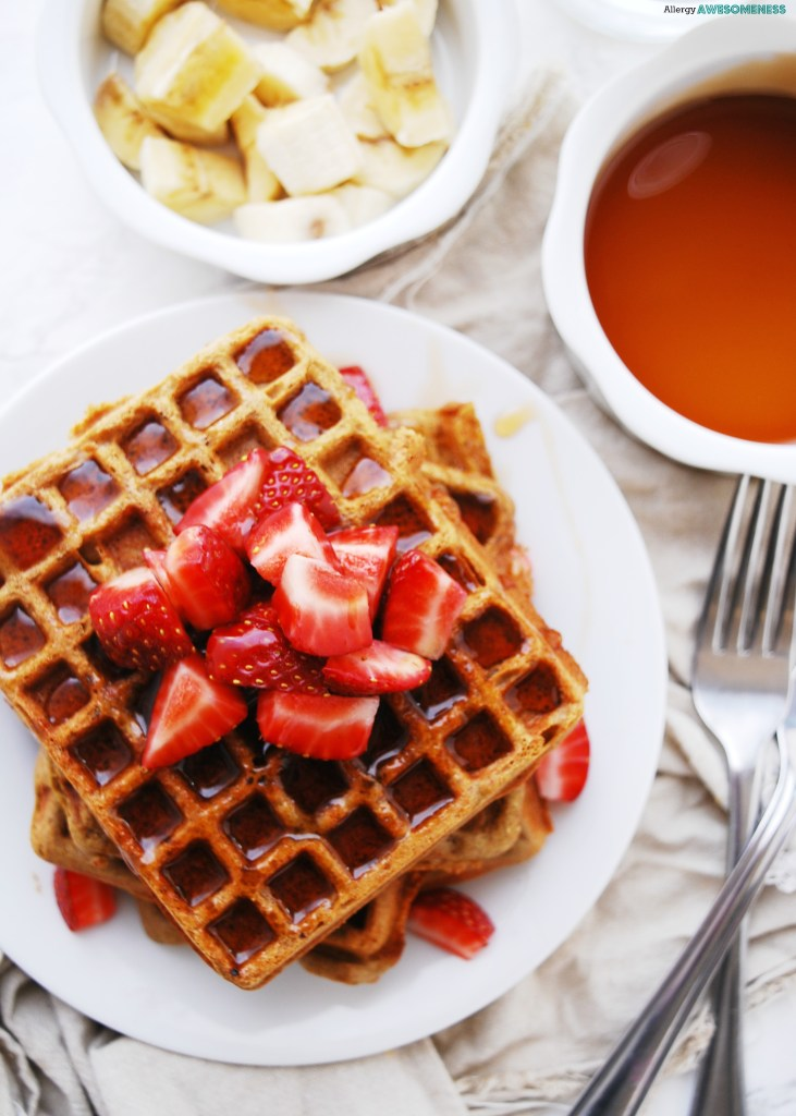 Dairy-free SunButter Waffles