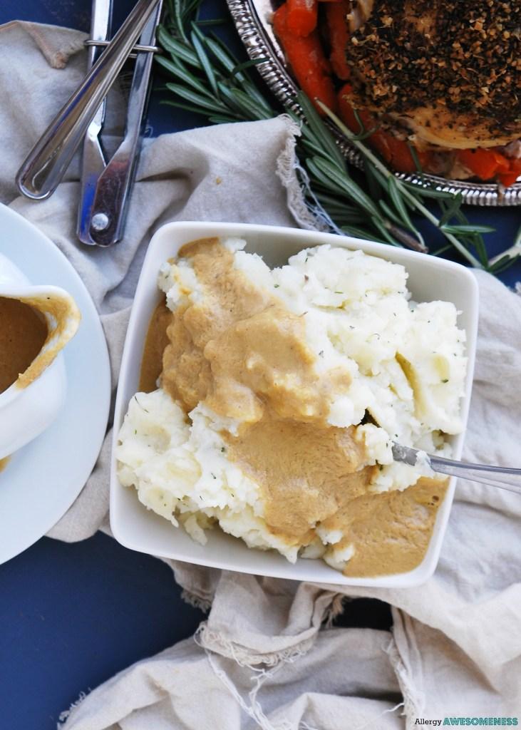 the easiest gluten-free blender gravy