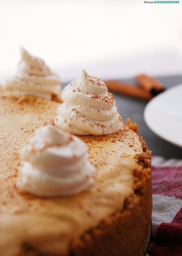 Gluten-free pumpkin mousse pie