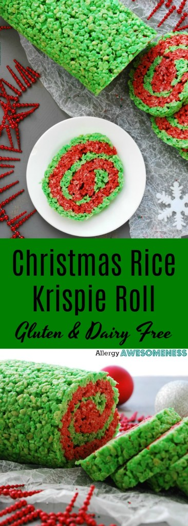 Christmas Rice Krispie Roll Gluten Dairy Egg Soy Peanut Tree Nut Free Top 8 Free Vegan