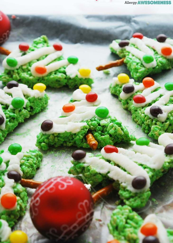 allergy friendly christmas trees - Rice Krispie Christmas