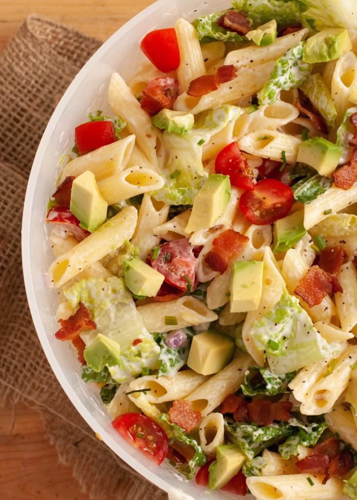 dairy-free-avocado-BLT-pasta-salad