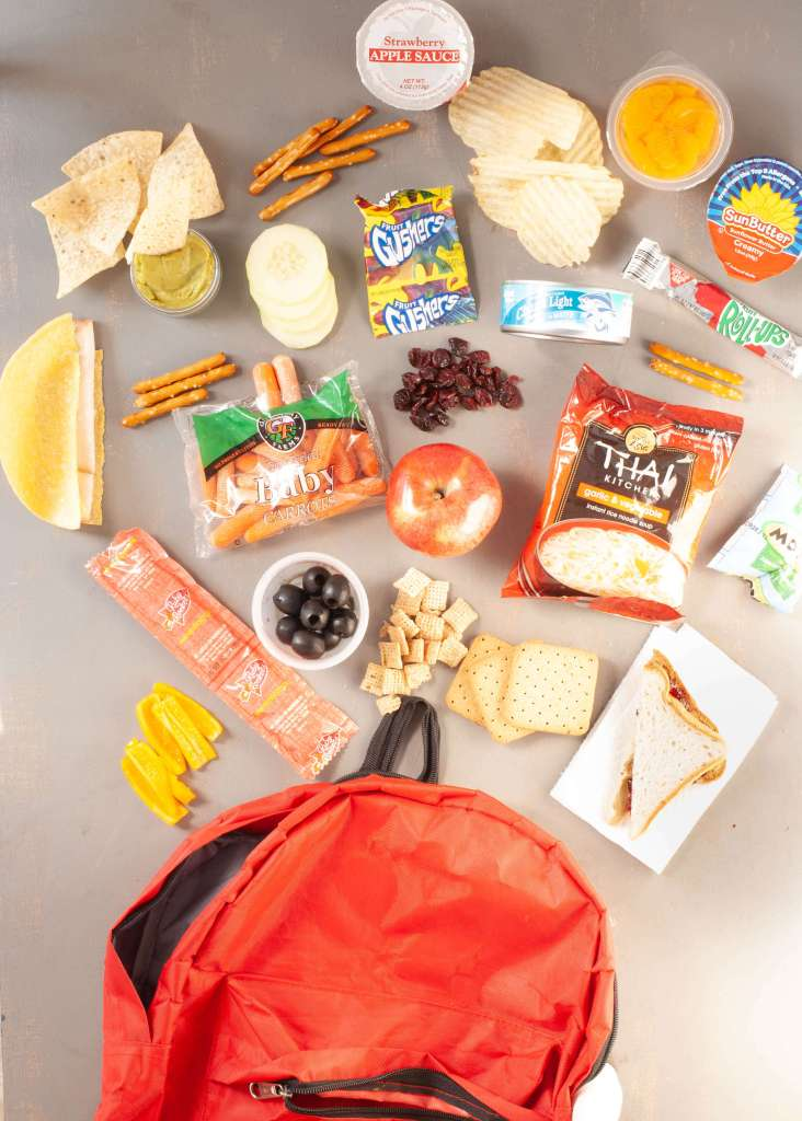 Safe school lunch ideas for kids with food allergies allergy safe school lunches spilled backpack forumfinder Gallery