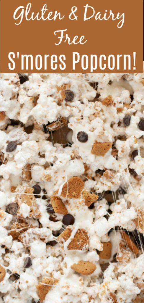 gluten-free vegan s'mores popcorn recipe by AllergyAwesomeness.com