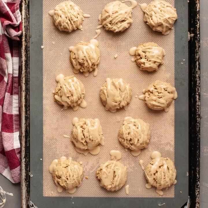 Maple Cookies with Maple Glaze (Gluten free & Vegan Option!)