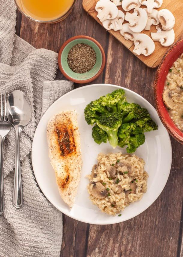 gluten free instant pot mushroom rice
