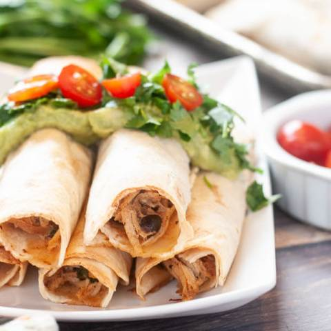 The Bomb Gluten Free Baked Chicken Taquitos