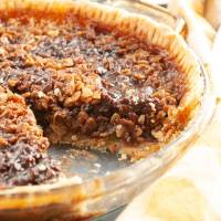 Black Bottom Oatmeal Pie (Also Known As No Nut Pecan Pie)
