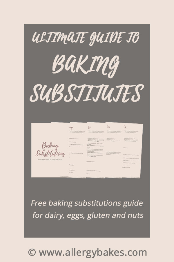 allergy baking substitutes freebie