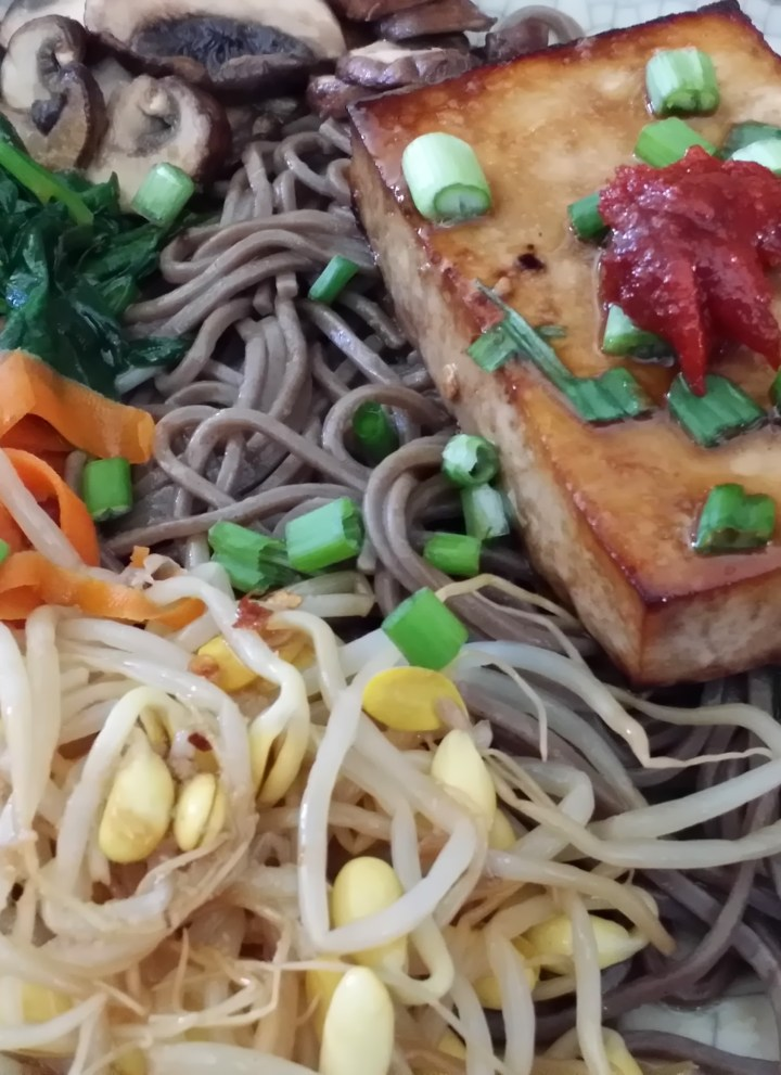 Tofu Steaks with Soba Noodles