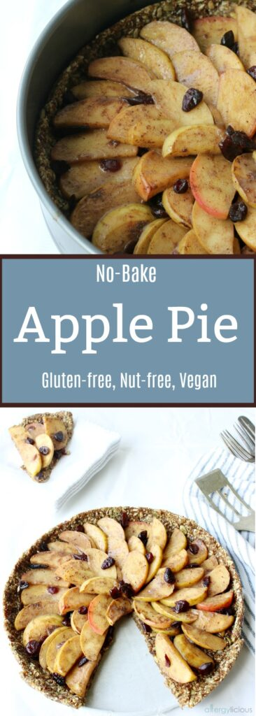 Take summer dessert to the next level with this seed-based, simply sweet, no-bake apple pie. Gluten-free & Vegan