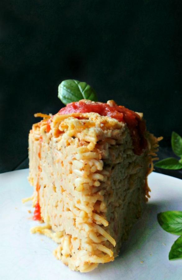 Deep Dish Spaghetti Pie (vegan)