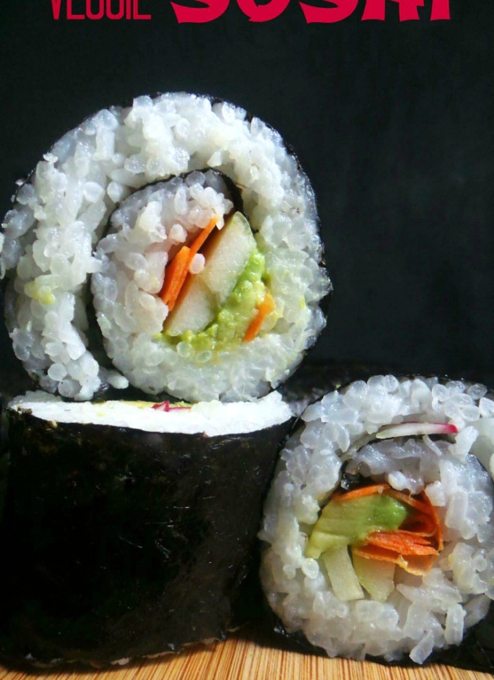 Veggie Lunchbox Sushi { easy to make & allergy-friendly}