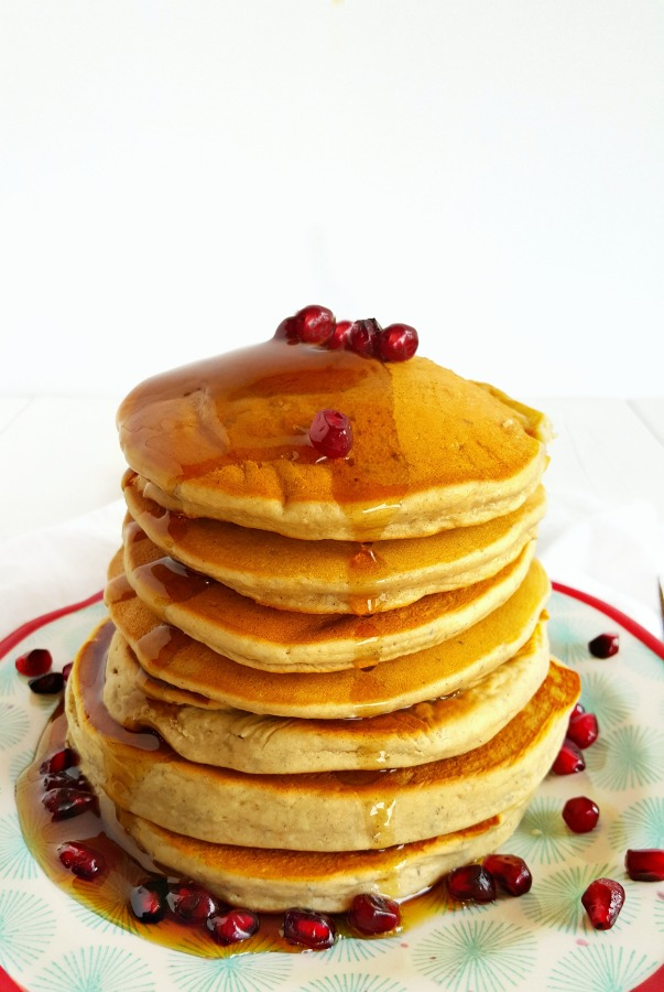 Blender Pancakes with syrup