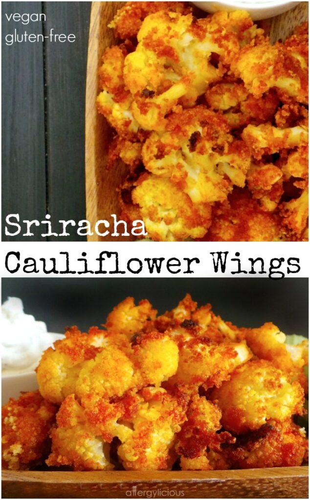 Sriracha Cauliflower Wings