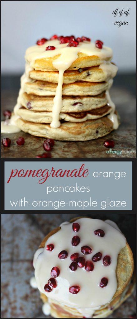 Beautiful & elegant pancakes, bursting with flavors of orange and fresh pomegranate.