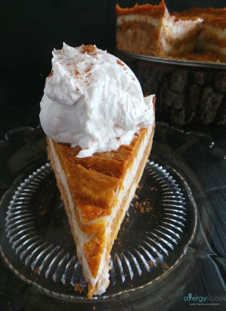 Vanilla Pumpkin Swirl Cheesecake {vegan, gf, nf}