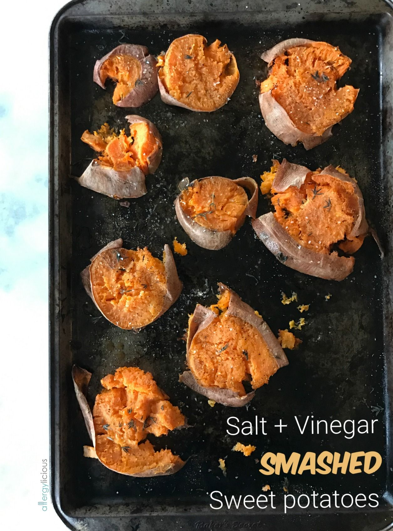 Super easy,Homemade Salt and Vinegar Mashed Sweet Potato made with malt vinegar and sea salt. Completely addicting and perfect for parties!