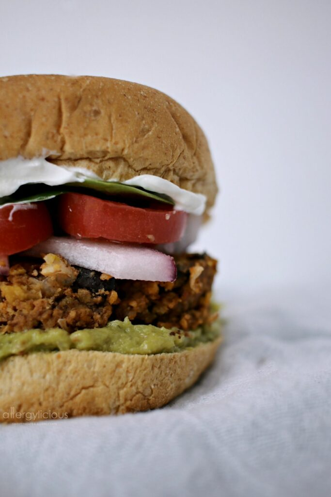 Salsa & spice give these Black Bean sliders a BIG kick of flavor. Allergy-friendly
