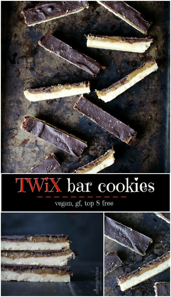 super-decadent, vegan, and gluten-free version of my favorite childhood candy bar: twix!