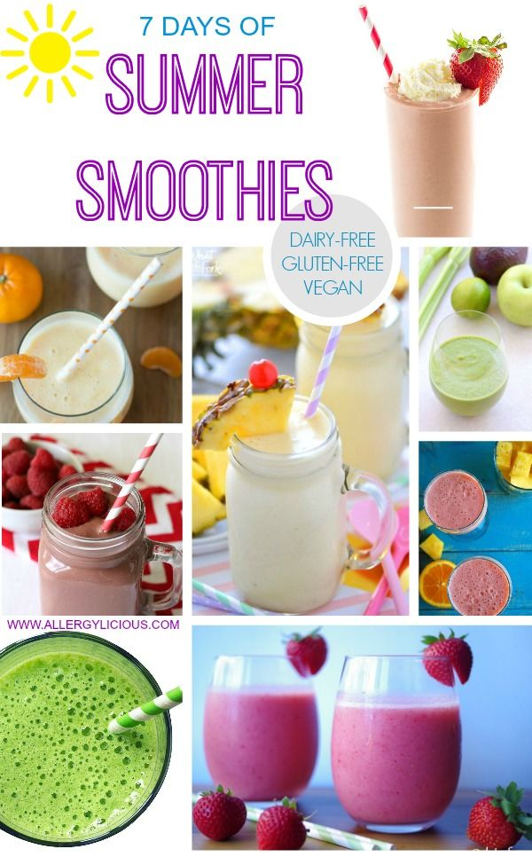 7 Days of Summer Smoothies
