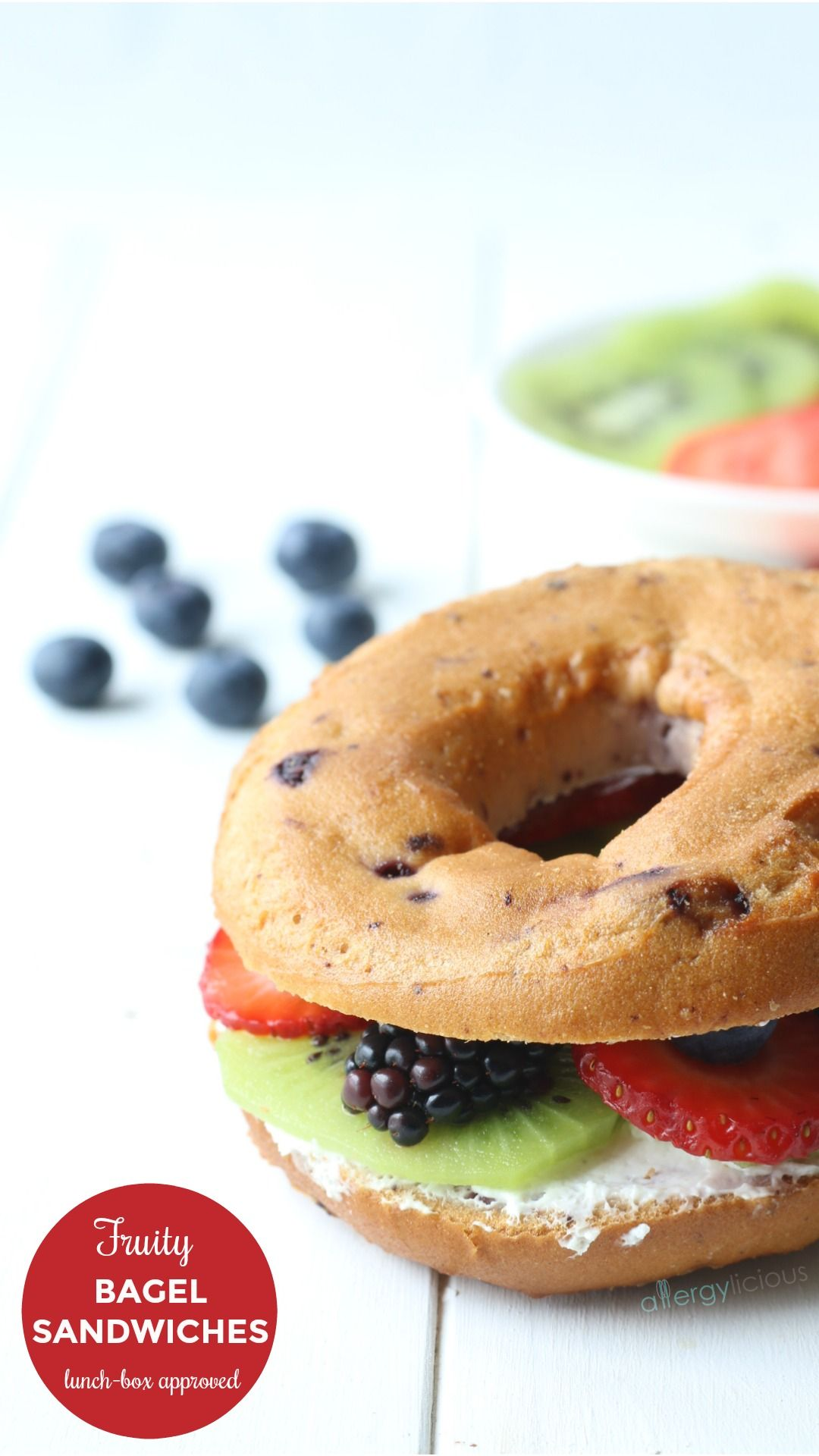 Fruit & fun bagel sandwich ideas