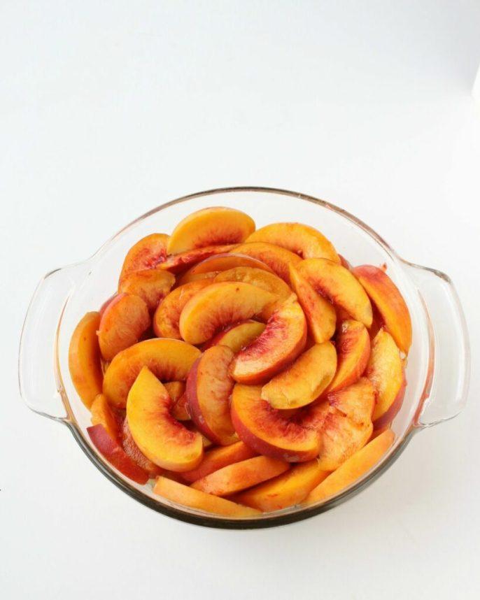 Grandma's Homemade Peach Cobbler recipe with an allergy-friendly twist.