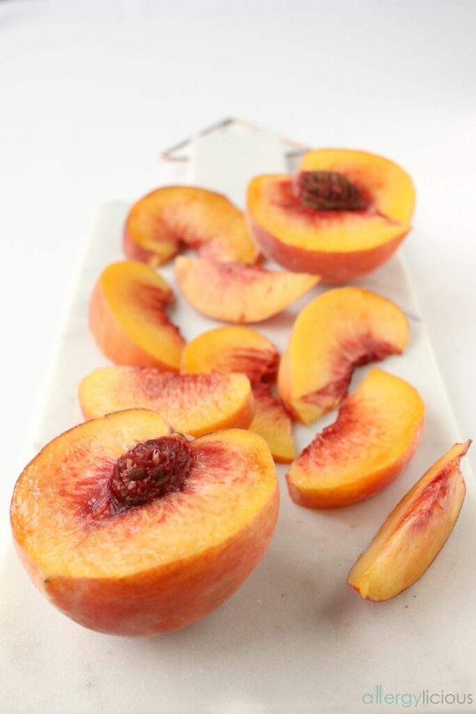 Grandma's Homemade Peach Cobbler with an allergy-friendly twist.