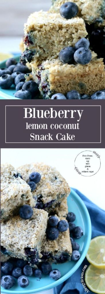 Each delightful bite of this Blueberry Lemon Coconut Snack Cake is bursting with fresh berries, lemon & sweet coconut.