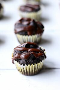 chocolate cupcakes that are both vegan and gluten-free! A sneaky vegetable puree makes these delicious, moist, and nutrient-dense!