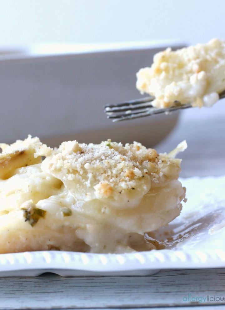 Creamy Potato Au Gratin  {Vegan + Gluten-free}