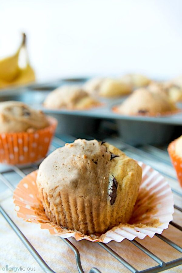 Chocolate Banana Split Muffins